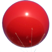 6 feet in diameter advertising balloons Atlanta